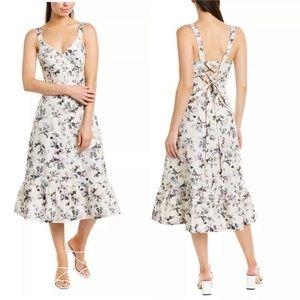Rebecca Taylor Sofia Floral Midi Dress size 4